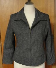 Sandro Gray Wool Blazer Jacket Lined Made In Russia, 12P