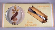 RETRO Johnson of Australia Butter Pad & Knife Leaf Design RARE Fine Giftware NEW
