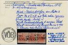 LOMBARDEI-VENETIEN 1850 3*15C, 3-STREIFEN! MISCH-TYPEN! PAPIERFALTE! TREVISO VÖB