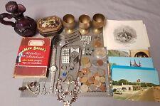 Collection Vintage Antique Collectables,Curios,Coins,postcards,Job Lot,Nice Mix