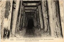 CPA PARIS Construction du Chemin de Fer METROPOLITAIN (563078)