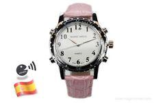 Reloj con Voz para Ciegos de Dama Correa Rosa