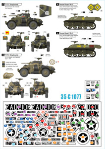 Star Decals 1/35 Firefly, Stuart, Tanque, Willys Jeep, Staghound #35-C1077