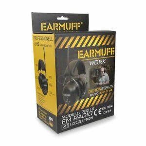 EARMUFF 78218 mit CE, SNR 31dB UKW RADIO Gehörschutz Kopfhörer FM