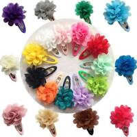 10Pcs Cute Chiffon Flower Kids Girls Hair Clip Hairpin Barrette Hair Accessories
