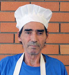 Chef Hat  Elastic  Kitchen Unisex Adult  Baker BBQ Kitchen Cooking Hat  White
