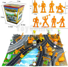 60 pcs Construction Toy Roadworks Worker Figures & Accessories Playset