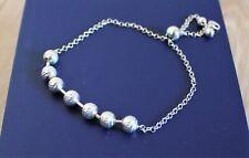 925 silver adjustable bracelet with balls, NEW!