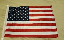 "USA AMERICAN CAR WINDOW FLAG 11""X 16"" HEAVY NYLON DOUBLE-SIDED BRIGHT COLORS"