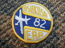 Vintage Patch 1982 Oshkosh EAA Experimental Aircraft Association Wisconsin Plane