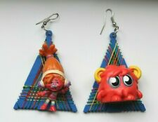 Trolls and Red Flump Grunge Plastic Toy Upcycled Earrings