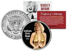 Marilyn Monroe GENTLEMEN PREFER BLONDES 1953 Movie JFK Half Dollar Licensed Coin