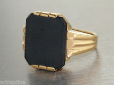 Ring Gold 585 - Ring in 14 kt Gold (585) mit 1 Onyx