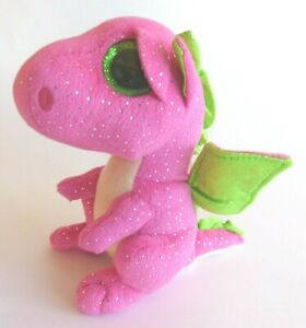 Ty Beanie Babies Darla Plush Pink Dragon - 15 cm -  2016
