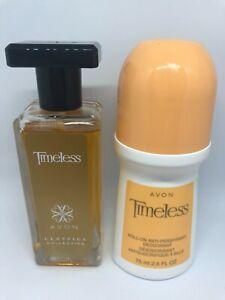 Avon Women ~Timeless~ 2-Pc Set 1-Perfume 1-Bonus Roll-On Unboxed Items