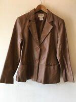 Chadwicks  chocolate brown  Leather Jacket sz 14p vintage