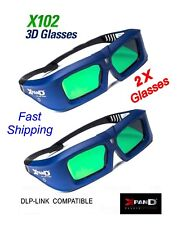 Xpand 2 PACK X-102 3D Glasses w/Battery and Battery Key and DLP Link NEW