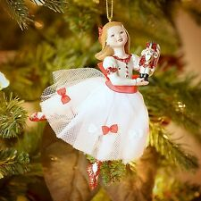 Ballerina Nutcracker Clara 5-1/2 In Resin Ornament Christmas Tree Free Shipping