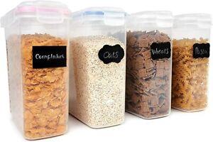4er Set Vorratsdosen Aufbewahrungsbox Küche Luftdicht Behälter Ceralienspender