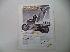 advertising Pubblicità 1987 STORM e MBA 125 CLAUDIO MACCIOTTA/ALEX PUZAR SU KTM