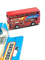 Matchbox London Bus MIB 1986 Red Body vintage diecast MB17 old new stock