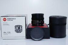 "Leica Summicron-R 35mm f/2 MF 3 Cam Lens Boxed #3364968 ""MINT"""