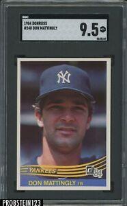 1984 Donruss #248 Don Mattingly New York Yankees RC Rookie SGC 9.5 MINT+