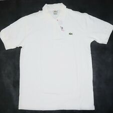 Lacoste Mens Polo Shirt Size L Large 6 White NWT