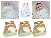 Grobag Baby Swaddle Hip- Healthy Swaddling Wrap x Newborn Baby Sleep 0-3m Cotton