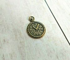 Clock Charm Antiqued Bronze Steampunk Pendant Faux Pocket Watch Finding 28mm