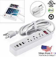 Poweradd 6FT 3 Outlet Surge Protector Power Strip Socket w/ 3 USB Charging Port