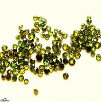1x Diamanten - Rund Brilliant Grün green fac.  1,3-1,4mm(2426)