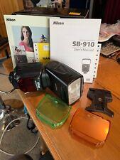 Used Nikon Sb-910 Speedlight Shoe Mount Flash Sb910