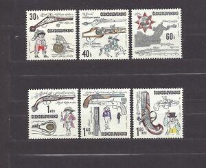 Czechoslovakia 1969 MNH **Mi 1854-1859 Sc 1604-1609 Historical Firearms