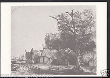 Artist Postcard - Rembrandt - Landscape With Three Gabled Cottages   RR1140
