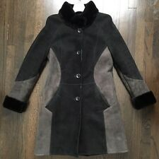 WOMEN'S AUTUNNO SHEARLINGS REAL SHEEPSKIN FUR LINED JACKET SIZE MED