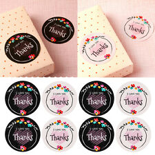 16Pcs I LOVE YOU Thanks Letter Seal Kraft Sticker Wedding Candy Bag Case Labels