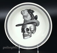 Victorian English Pottery Royal Stafford SERVING BOWL Lady Skull, Halloween, NEW