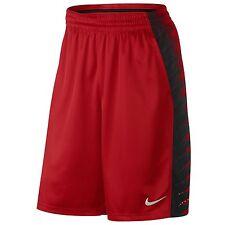 MEN'S NIKE ELITE WING BASKETBALL SHORTS RED BLACK 789862 657 NEW SIZE XL