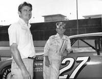 Brothers Bobby and Donnie Allison at a NASCAR Cup Ford Torino OLD RACING PHOTO