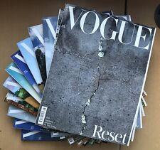 VOGUE BRITISH August 2020 Juergen Teller David Hockney RESET FULL SET 14 COVERS