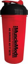 MuscleMeds Brand NEW - RED Protein Shaker Bottle Cup 25 oz optimum animal