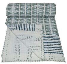 Vintage Kantha Quilt Cotton Blanket Gudri Handmade Bedspreads Bed Cover Bedding