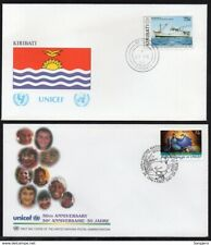 ✔️ UN UNITED NATIONS FDC 2 EXCELLENT UNICEF COVERS KIRIBATI