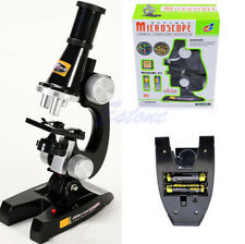 100X 450X 200X Microscope Kit Student Kids Science Chemical Laboratory Magnifier