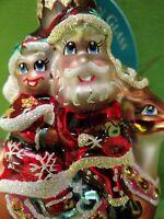 Christopher Radko Dash Away Darlings Gem Glass Ornament