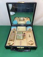 Vtg 50's? 8pc Boxed CARA NOME DESIGNER Powder Lipstick Perfume Travel Vanity Set