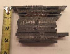 Lot Of 19 Various Vintage Metal Printing Wood Print Blocks Letterpress Type Cuts
