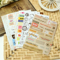 6Pcs Retro DIY Calendar Paper Stickers for Scrapbooking Diary Planner Sticky FO