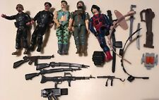 Vintage G.I. Joe action figures 1980s Military lot 5 Men guns Belt Sword Blue Ta